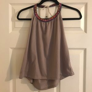 Taupe halter top